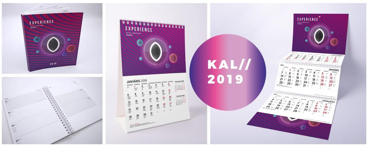 Kalendāru, plānotāju izgatavošana 2019.gadam