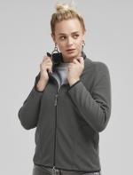 SG sieviešu mikroflīsa jaka ar rāvējslēdzēju