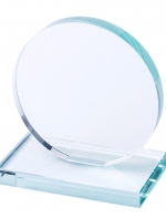 Stikla apaļa trofeja