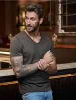 Tee Jays Luxury V-veida vīriešu krekls