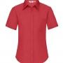 FOL Poplin sieviešu krekls ar īsām piedurknēm