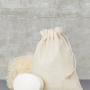 Kokvilnas maisiņi ar auklu lencēm
